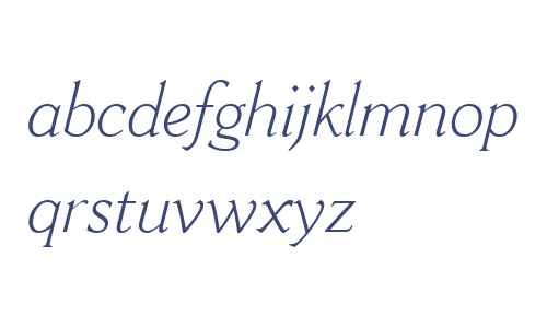 Cantoria MT W04 Light Italic