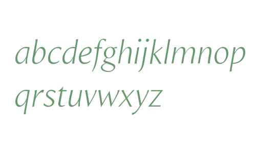 Beaulieu W01 Light Italic