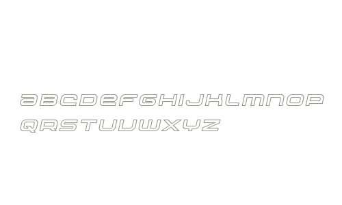 Nextwave Outline Italic