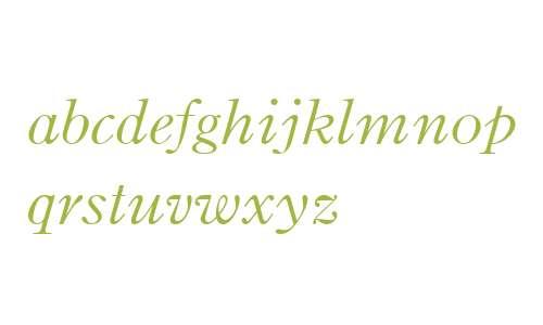 Binny Old Style MT W01 Italic