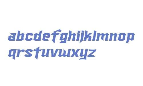 SF Ironsides Extended Italic V1 V2