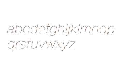 Crique Grotesk Display Ultra Light Italic