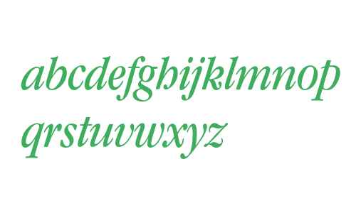 Garamond* Condensed Book Italic