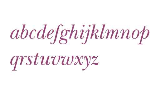 ITC New Baskerville Italic Old Style Figures