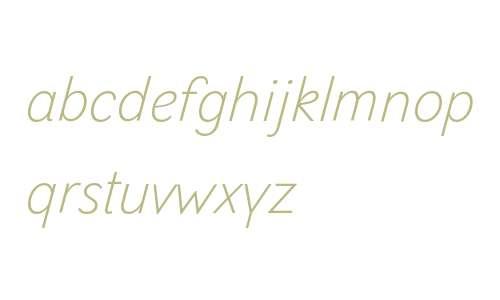 Selfica W01 Thin Italic