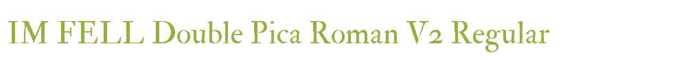 IM FELL Double Pica Roman V2
