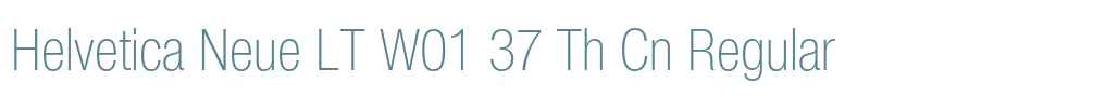 Helvetica Neue LT W01 37 Th Cn