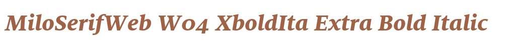MiloSerifWeb W04 XboldIta