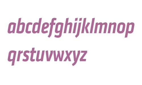 Klavika Web Medium Condensed Italic