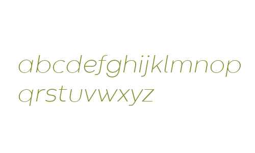 Codec Warm Trial ExtraLight Italic