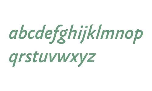 Yoga Sans OT W03 Medium Italic
