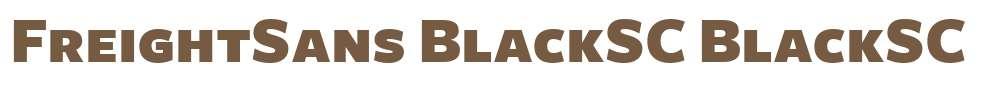 FreightSans BlackSC