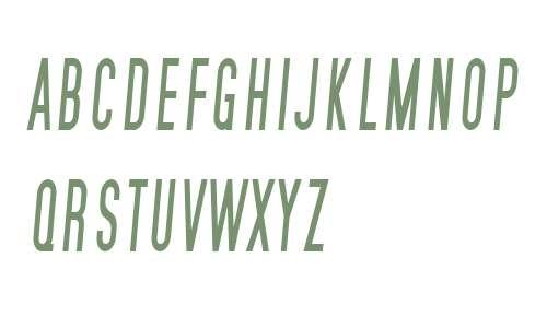 SF Movie Poster Condensed Italic V1