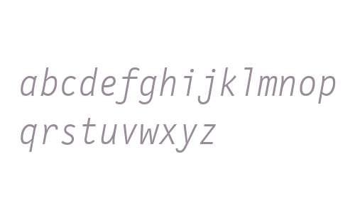 LetterGothicMonoWeb-LightItalicW03