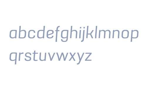 Grafia Sans 1 W01 Book Italic