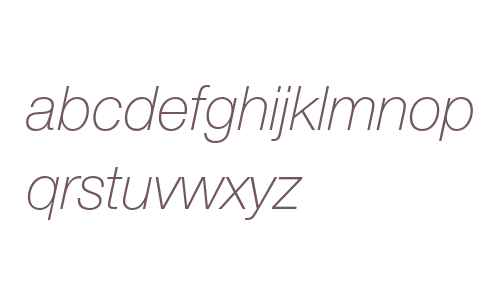 Helvetica Neue LT Pro 36 Thin Italic
