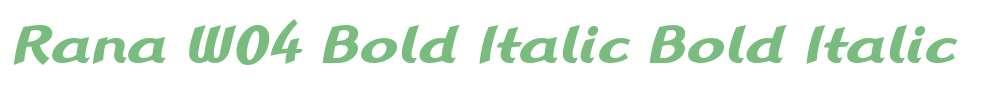 Rana W04 Bold Italic