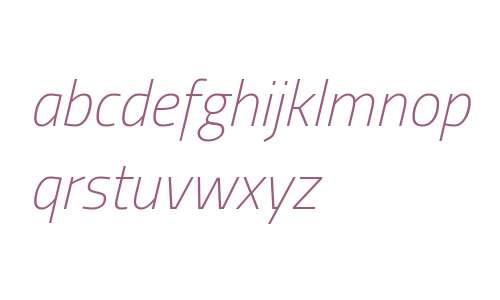 Titillium Thin Italic