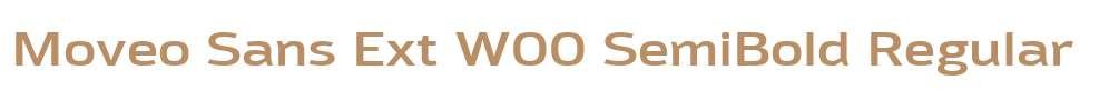 Moveo Sans Ext W00 SemiBold