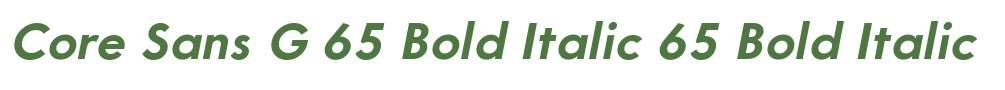 Core Sans G 65 Bold Italic