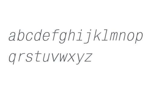 MonoCondensed W08 Italic