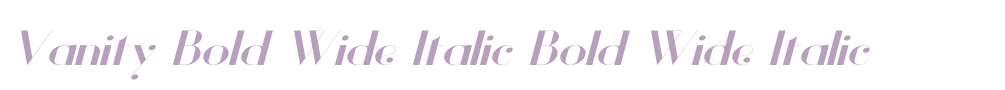 Vanity Bold Wide Italic