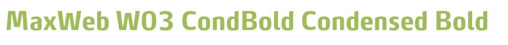 MaxWeb W03 CondBold