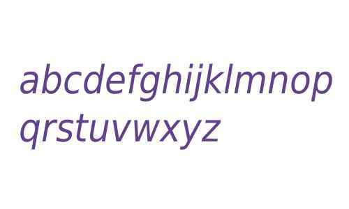 DejaVu Sans Condensed Oblique V2