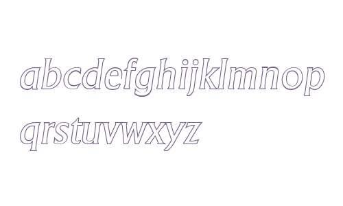 AdelonOutline-Italic