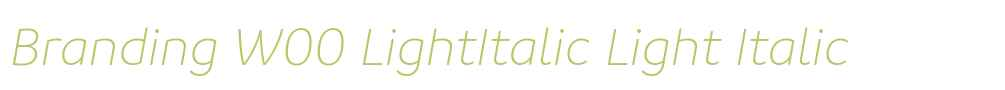 Branding W00 LightItalic