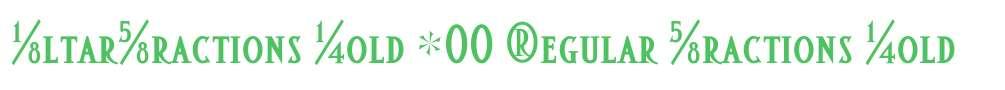 AltarFractions Bold W00 Regular