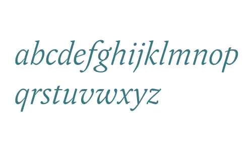 Yoga OT W03 Light Italic