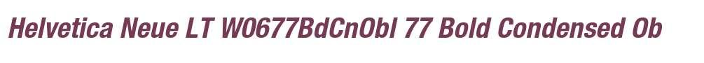 Helvetica Neue LT W0677BdCnObl