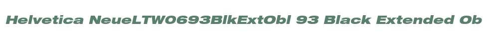 Helvetica NeueLTW0693BlkExtObl