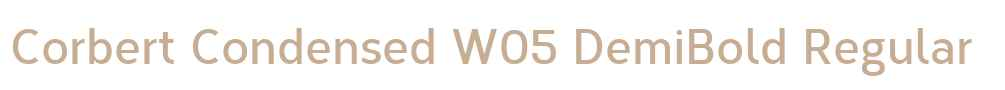 Corbert Condensed W05 DemiBold