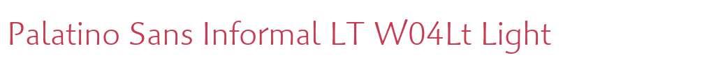 Palatino Sans Informal LT W04Lt
