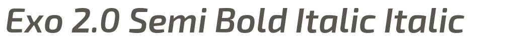Exo 2.0 Semi Bold Italic