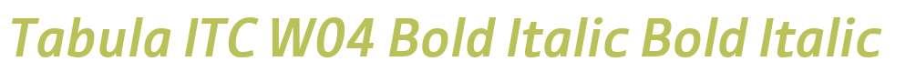 Tabula ITC W04 Bold Italic