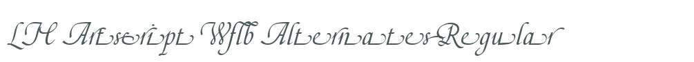 LTC Artscript W01 Alternates