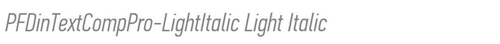PFDinTextCompPro-LightItalic