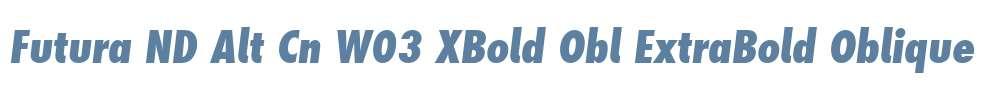 Futura ND Alt Cn W03 XBold Obl