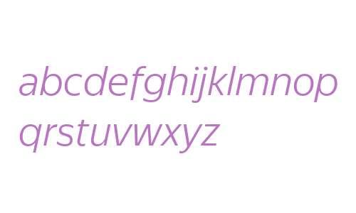 YS Text Light Italic