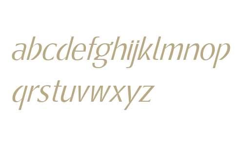 Metamoderna W01 Light Italic