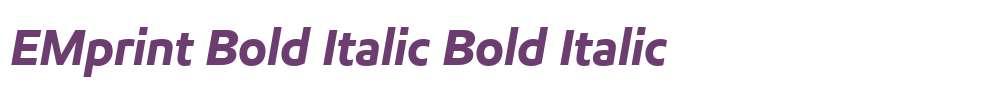 EMprint Bold Italic