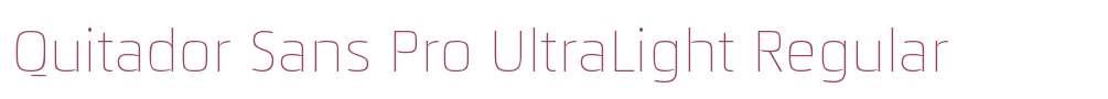 Quitador Sans Pro UltraLight