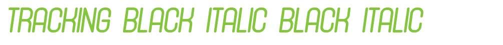 Tracking Black Italic
