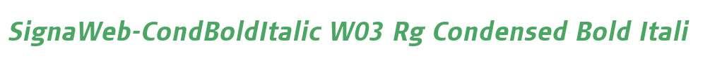 SignaWeb-CondBoldItalic W03 Rg