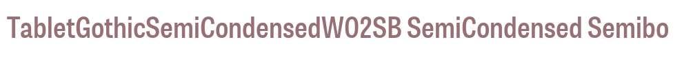 TabletGothicSemiCondensedW02SB