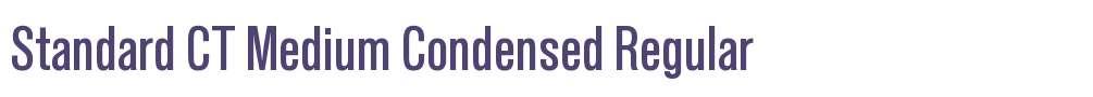 Standard CT Medium Condensed