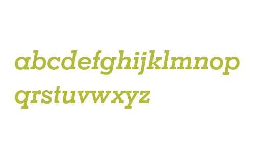 Geometric Slabserif 703 Bold Italic